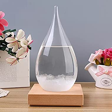 MUWOOD Storm Glass Creative Stylish Desktop Drops Crafts Weather bottle Forecast Bottle Barometer (Large)