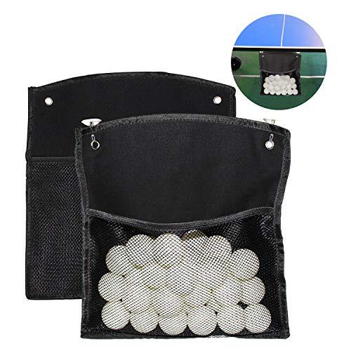 Ping-Pong Bälle 30 Pack 40 mm mit 2 Netzbeuteln zur Aufhängung von Bällen, 4 Klebehaken Leicht auf Dem Tisch zu Montieren Sparen Sie Zeit Beim Spielen - Ideal für Tischtennis übungen und Anfänger