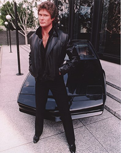 David Hasselhoff standing in Black Leather Jacket with Black Pants and Black Shoes Photo Print (8 x 10)