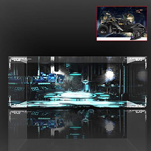 Batop Display Case Vitrine Für Lego DC Super Heroes 76023 - The Tumbler (Lego Modell Nicht Enthalten) - mit 3-Seitige Beleuchtung