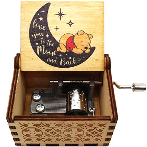 Lastsummer Wooden Music Box – The Pooh Saying, Winnie The Pooh, Gift for Christmas, Holiday, Birthday, Anniversary, New Year – 1 Set(wn8)