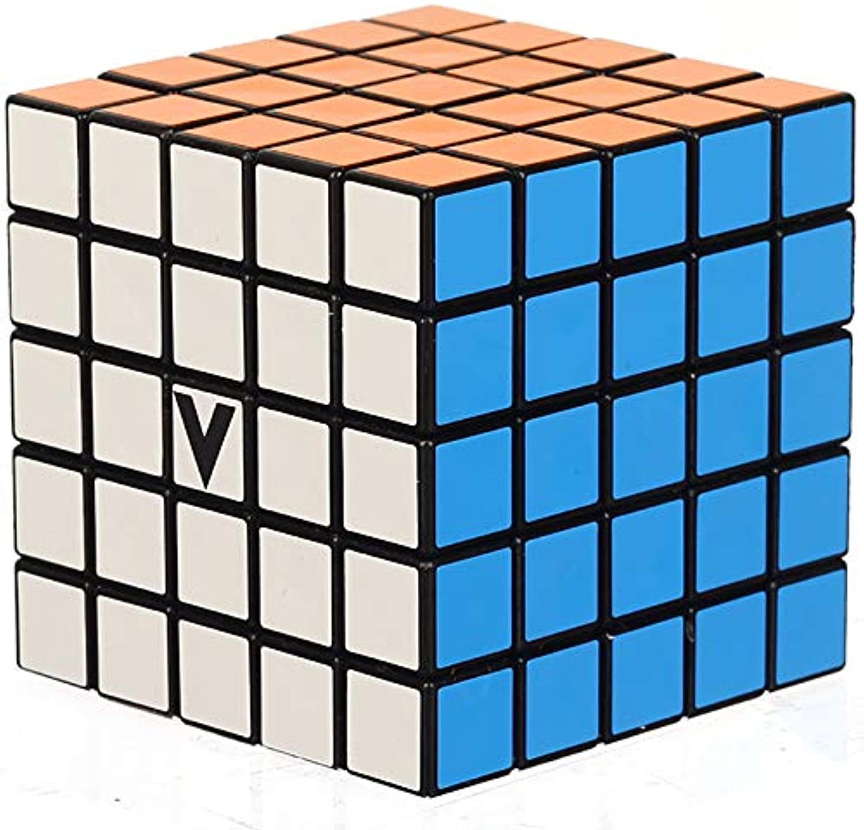 V-Cube 5 Black Flat Multicolor Cube Puzzle