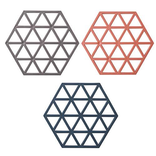 Oven Placemats de Silicona: Estera de Silicona Impermeable sin Deslizamiento: diseño Moderno Simple: tapetes de Mesa de Cocina Resistente al Calor (Conjunto de 3)