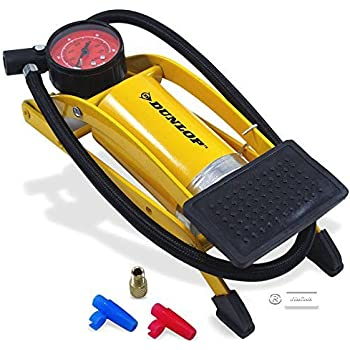 Dunlop Pompa a pedale pompa ad aria pompa bicicletta pompa pompa auto pompa STAND CON MANOMETRO
