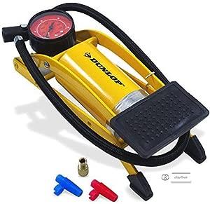 Dunlop Air Pump Foot Pump Bicycle Pump Pressure Gauge Professional Pump