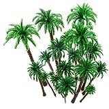 hatisan 20 Stück Modell Bäume Coconut Palmen Diorama Modelle/Modellbahn Landschaft, Künstliches Plan-Regenwald- Architektur Bäume des Plastiks, Gebäudemodell Baum Kuchen Deckel -