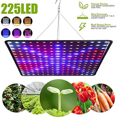WUIO LED Grow Zeltlampe, 1000W LED Grow Light Panel Phyto Lampe Für Pflanzen Vollspektrum LED-Leuchten Für Innenanbau Blumen Kräuter