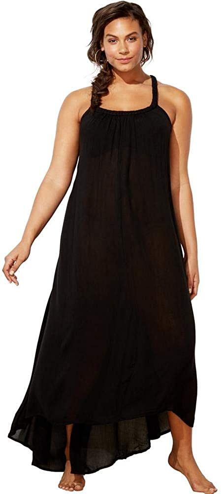 Swimsuits For All Women's Plus Size Candance Braided Cover Up Maxi Dress