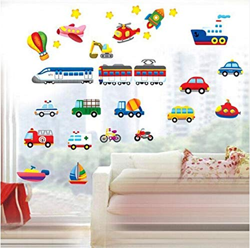 Zybnb Cartoon Trucks Tractoren Auto's Muurstickers Kinderkamers Voertuigen Muurstickers Art Fotobehang Home Decor Muursticker