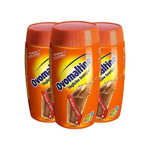 Dosis de Ovomaltine en polvo para bebidas, paquete de 3, (3x500g)