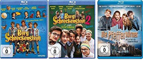 Burg Schreckenstein 1+2 & Die Pfefferkörner und der Fluch des schwarzen Königs - 3 Spielfilme im Set - Deutsche Originalware [3
