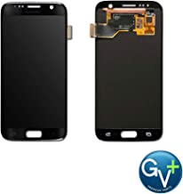 Group Vertical Replacement AMOLED Touch Digitizer Screen Assembly Compatible with Samsung Galaxy S7 (Black Onyx) (SM-G930) (GV+ Performance)