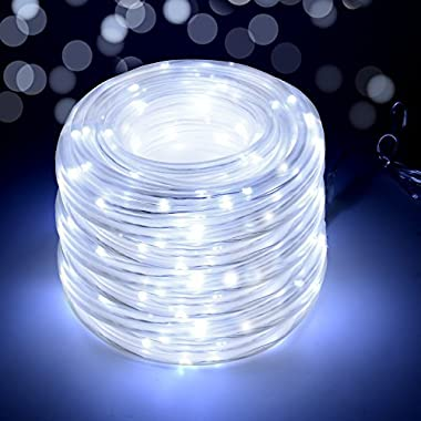 LED String Lights 23m/75.5FT 200 LEDs, IMAGE Waterproof Decorative Rope Lights with 8 flashing modes for indoor/outdoor decorations, Wedding, Garden, Patio, Party -White