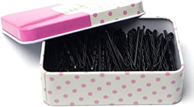 200 CT Hair Bobby Pins Black with Cute Case, Bobby Pins for Buns, Premium Hair Pins for Kids, Girls and Women, Great for A...