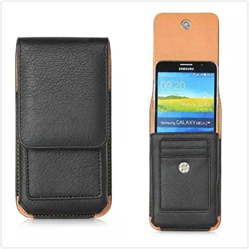 generia blu Dash 5.0+ Funda para teléfono móvil de rotación vertical (d412l) Funda PU Pistolera teléfono celular Negro
