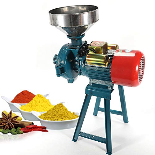 Electric Grain Mill, Mill Grinder Heavy Duty 110V Commercial Grain Grinder Machine Feed Grain Mills Grain Dry Feed Flour Mills Cereals Grinder Rice Corn Grain Coffee Wheat with Funnel (3000W)