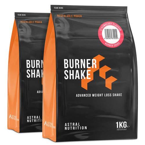 Burner Shake - 2 Monate Vorrat Erdbeere   Fettverbrennung Gewichtsverlust Shake   trägt zum Stoffwechsel bei   unterdrückt den Appetit