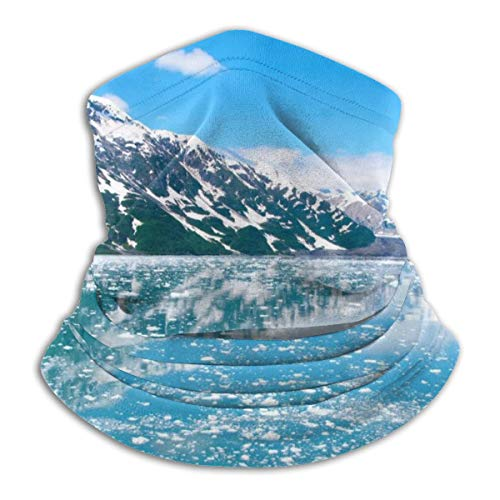 SSNBTHDA Turquoise Green Mermaid Scale Fleece Neck Warmer Gaiter Windproof Face Mask For Men Women Skiing Fishing Cycling Running