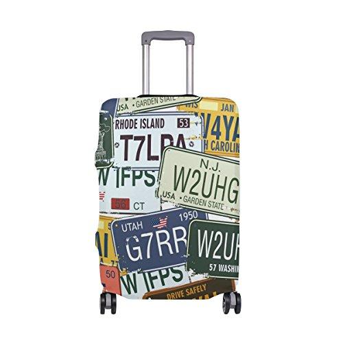 スーツケースカバー 伸縮素材 傷から保護 盗難防止 防塵 おしゃれレトロ S/M/L/XL サイズ キャリーケース キャリーバッグ 洗える 国内 海外旅行 便利
