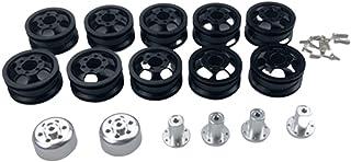 ZHANGHONGWEI Metal Wheel Rim Wheel Hub Fit for WPL C14 C24 B14 B24 B16 B36 Six Drive RC Car Spare Parts (Color : Black)