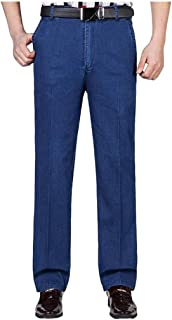 Mmnote Men's Slim Fit Biker Jeans Super Comfy Stretch Skinny Biker Denim Jeans Pants
