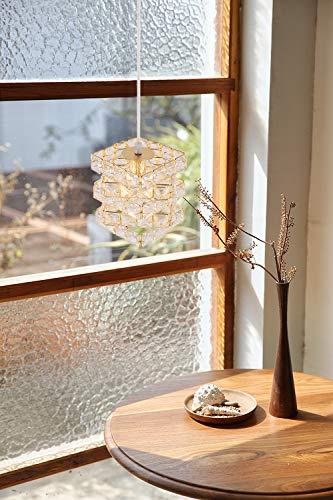 (セーディコ)Cerdecoまるでオーロラのような煌き…ユニークな立方体パズルデザイン手軽に贅沢ペンダントライト高級感漂うゴールド手作業で作るインテリア照明サイズ175x150mmPDT13