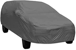 ARNV Car Body Cover for Innova, Built Fabric, Comes with Pocket Mirror and Belt (Grey)