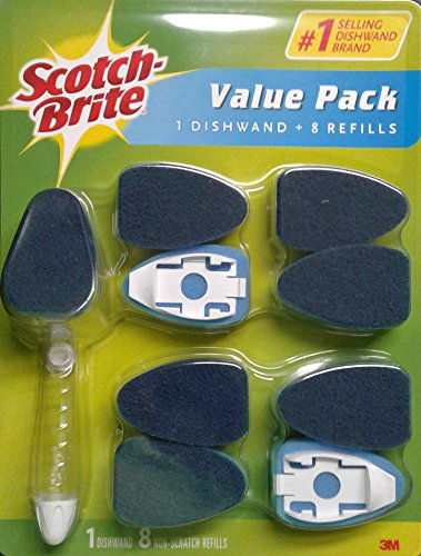 Scotch-Brite Value Pack Non-Scratch Clean Scrub Dishwand + 8 Refills by 3M