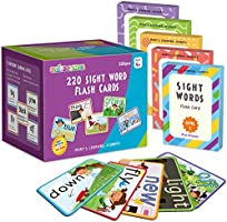 SpringFlower Sight Words Flash Cards with Pictures,Motions&Sentences, 220 Dolch Sight Words for Preschool, Kindergarten,...