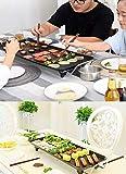 Cubierta Parrilla eléctrica coreana libre de humo de barbacoa Tabla Ith temperatura ajustable 1400w de alta potencia for el hogar al aire libre Patio Cena YZPDD