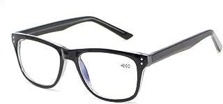 SIGHDEF نظارات قراءة الكمبيوتر أزرق اللون حجب الضوء النساء الرجال ساحة المهووس الأنيقة تقليل الصداع وقارئات قطارات العين