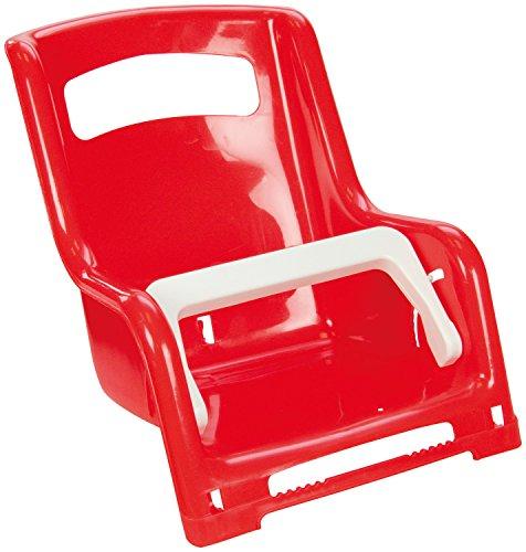 Lena 61168 - Gepäckträger Sitz für Puppen, ca. 27 cm, 2 fach farblich sortiert, Puppensitz für Gepäckträger von Kinderfahrrädern, Gepäckträgersitz für die Lieblingspuppe von kleinen Puppenmuttis
