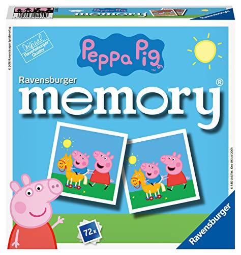Ravensburger 21415 - Peppa Pig Memory, der Spieleklassiker für alle Fans der TV-Serie Peppa Pig, Merkspiel für 2-8 Spieler ab 4 Jahren