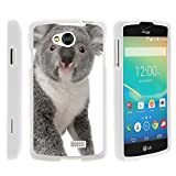 TurtleArmor | Compatible with LG Tribute Case | LG Optimus F60 Case | LG Transpyre Case [Slim Duo] Slim Compact 2 Piece Hard Protector Snap On Case Grip on White Animal - Koala