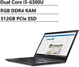 Lenovo Thinkpad T470s 14 inch FHD (1920x1080) IPS Business Laptop (Intel Dual-Core i5-6300U, 8GB DDR4 RAM, 512GB PCIe NVMe M.2 SSD) Backlit, Fingerprint, Thuderbolt 3, Type-C, Windows 10 Professional