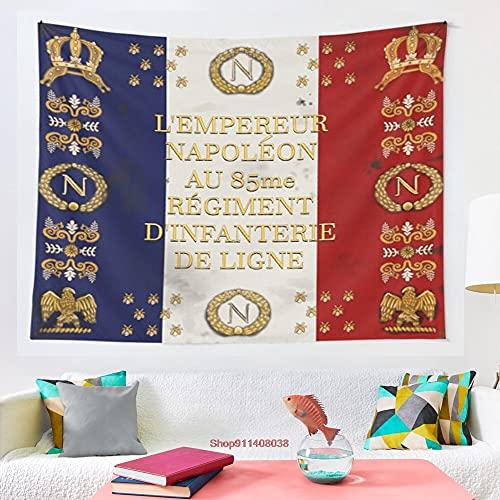 horjeeda Napoleonische Französische 85. Regimentale Flagge-design-tapisserie-kunst-wand-hänge-wandteppiche Für Wohnzimmer-wohnheim-dekor 39x59inch Polyester