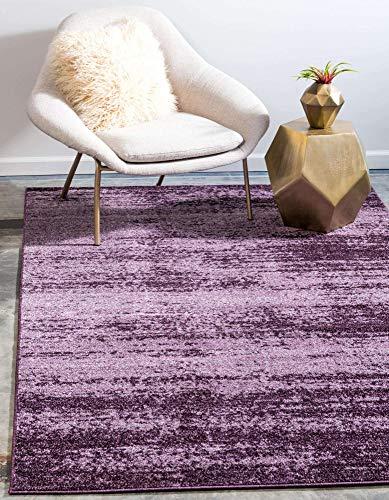 Unique Loom Del Mar Collection Contemporary Transitional Violet Area Rug (5' 0 x 8' 0)