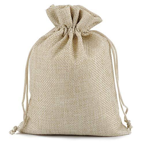 Lucky Monet Burlap Gift Bags