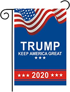 BinaryABC Trump 2020 Garden Flags,Keep America Great Again Garden Flags,American President Election Yard Outdoor Decoration,Election Day Favors