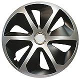 CORA 419444Universal Aluminio Look ROCO Mix Tapacubos, 14, Set de 4