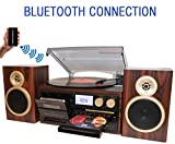 BT-28SPM Boytone, Bluetooth Classic Style Record Player Turntable with AM/FM...