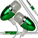 (Grün + Kopfhörer) Umi HAMMER S Fall-Abdeckungsbeutel der Qualitäts-Thin-Leder Holdit Federklammer Clip ONP Mappenkasten-Abdeckung Haut mit Kredit- / Debitkarte Slots mit Premium-Qualität in Earbuds Stereo-Freisprecheinrichtung Kopfhörer-Kopfhörer mit eingebautem Mikro Telefon Mic & On -Aus-Taste TIMMY M12 5.5