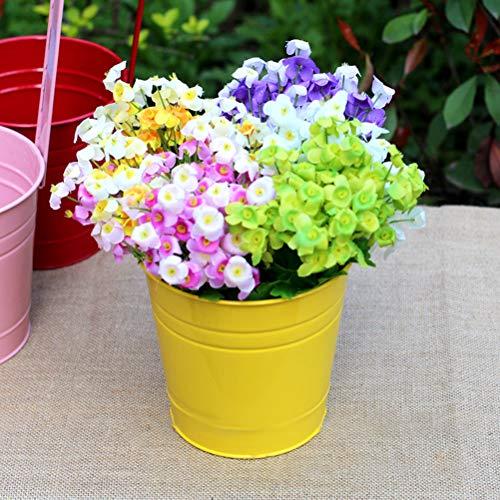 Gekleurde ijzer bloempotten opknoping metalen emmer decoratieve bloemen potten