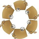 FINGER TEN Set da Tovagliette 4er 6er Facile da Pulire Isolamento Termico per Famiglia Alberghi (Golden, 6er)