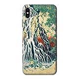 JP2491IXM 北斎 霧降の滝 Hokusai Kirifuri Waterfall at Kurokami Mountain in Shimotsuke iPhone XS Max ケース