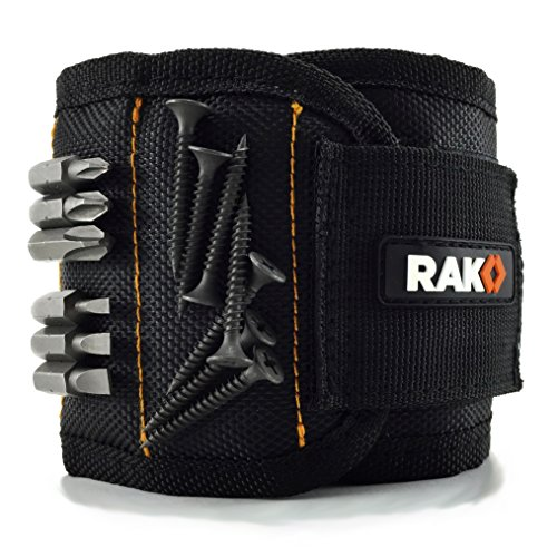 RAK Magnetic Wristband with Strong Magnets for Holding Screws, Nails, Drill Bits - Best Unique Tool...