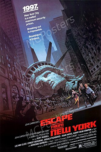MCPosters Escape from New York Kurl Russell GLOSSY FINISH Movie Poster - MCP200 (24