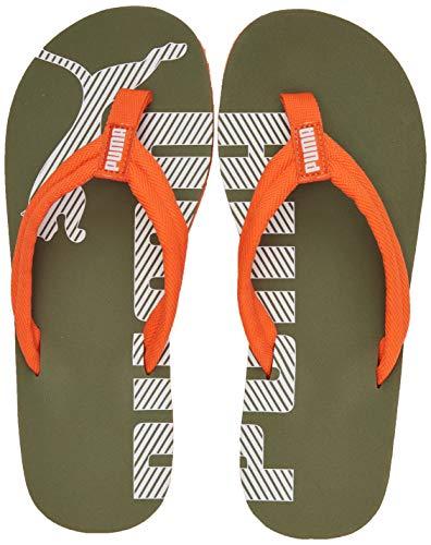 PUMA Unisex-Kinder Epic Flip V2 Jr Zapatos de Playa y Piscina, Grün (Deep Lichen Green-Firecracker), 37 EU