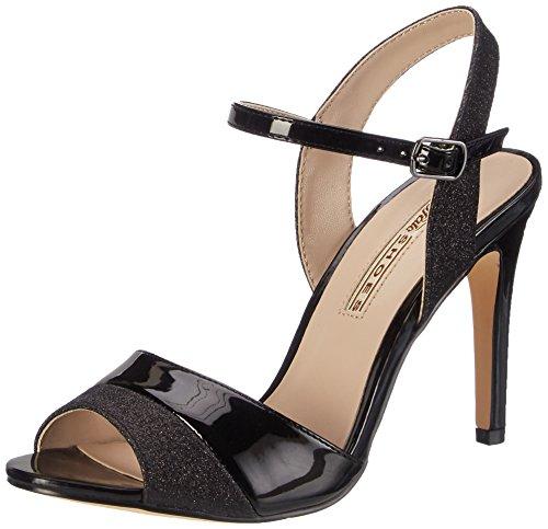 Buffalo Shoes Damen 15S90-5 Glitter METALLIC PU Knöchelriemchen, Schwarz (Black 01), 38 EU
