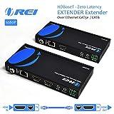 Orei HDMIエクステンダーオーバーイーサネットCAT5E / CAT6のパワーオーバーケーブル - Hdbaset - ゼロレイテンシー - 1080件まで500フィート-Ir信号